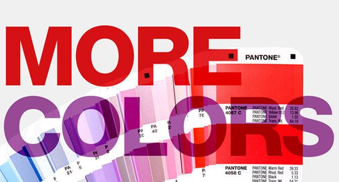 294 nieuwe kleurtjes van Pantone