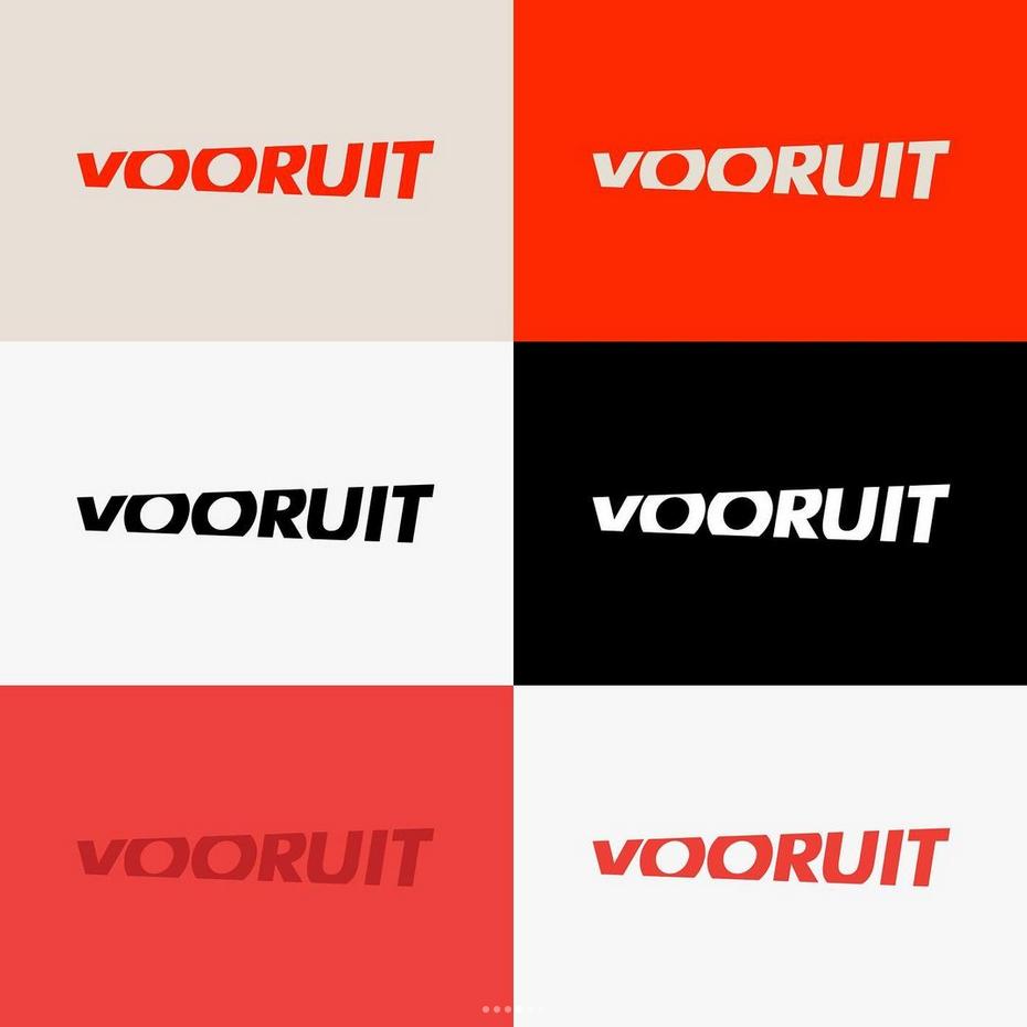 het logo in verschillende kleuren
